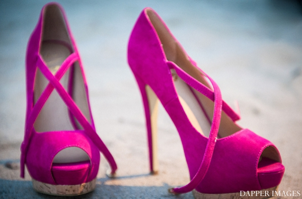 Indian wedding engagement pink shoes in Sunday Sweetheart Winners ~ Kazi and Malyha by Dapper Images