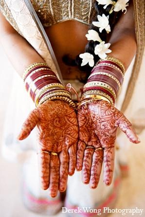 Indian wedding bridal mehndi bride in Kailua, Hawaii Indian Wedding by Derek Wong Photography