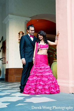hot pink,bridal fashions,portraits,indian bride and groom,indian bride groom,photos of brides and grooms,images of brides and grooms,indian bride grooms,Derek Wong Photography