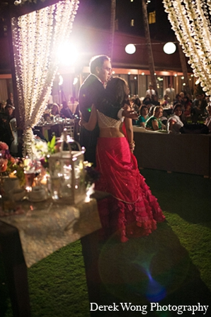Indian wedding reception bride groom photography in Kailua, Hawaii Indian Wedding by Derek Wong Photography