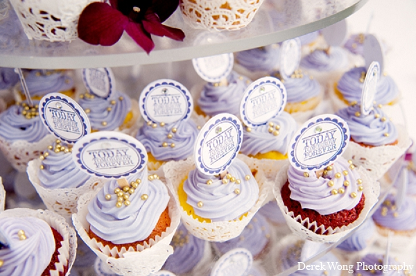Indian wedding reception treats ideas cupcakes in Kailua, Hawaii Indian Wedding by Derek Wong Photography