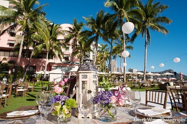 Indian wedding reception venue beach in Kailua, Hawaii Indian Wedding by Derek Wong Photography