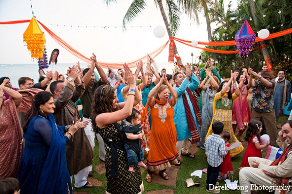 Indian wedding sangeet guests photography in Kailua, Hawaii Indian Wedding by Derek Wong Photography