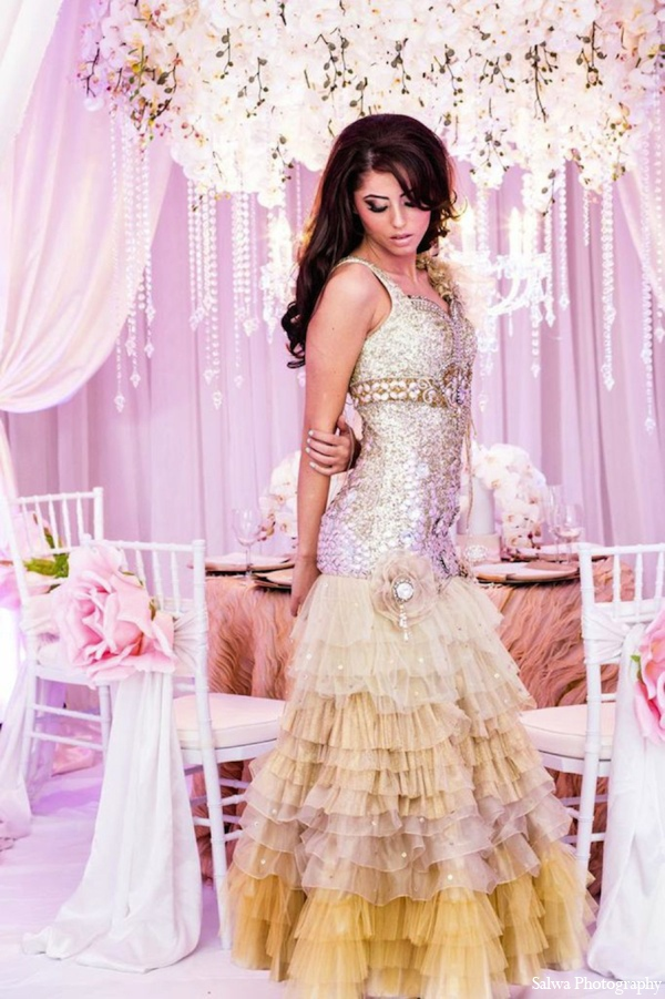 Indian wedding bridal dress in Design House Decor Indian Bridal Inspiration Shoot by Salwa Photography