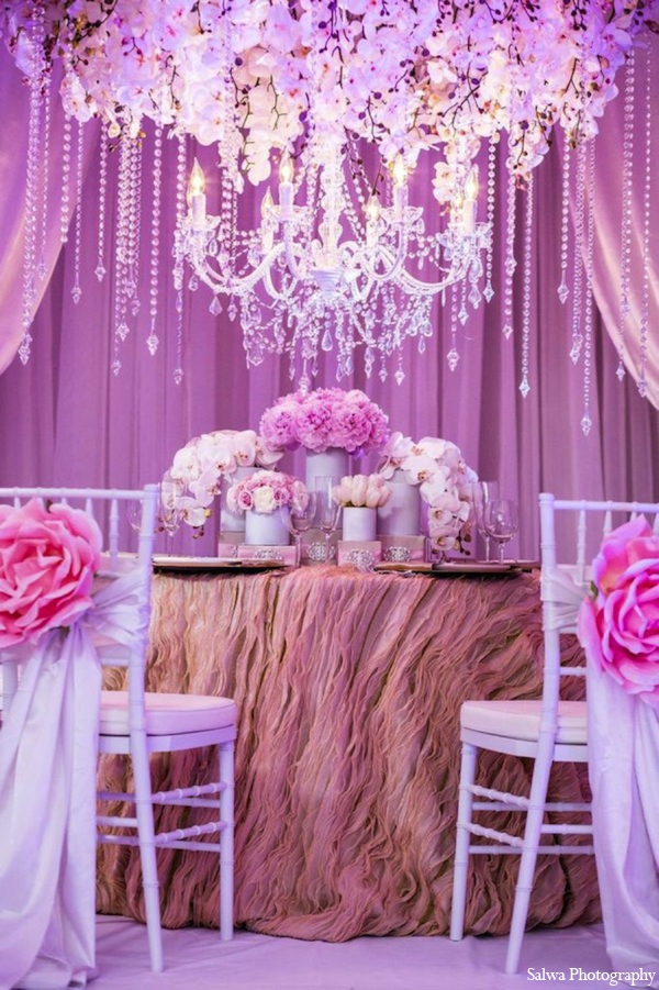 Indian wedding decor ideas in Design House Decor Indian Bridal Inspiration Shoot by Salwa Photography
