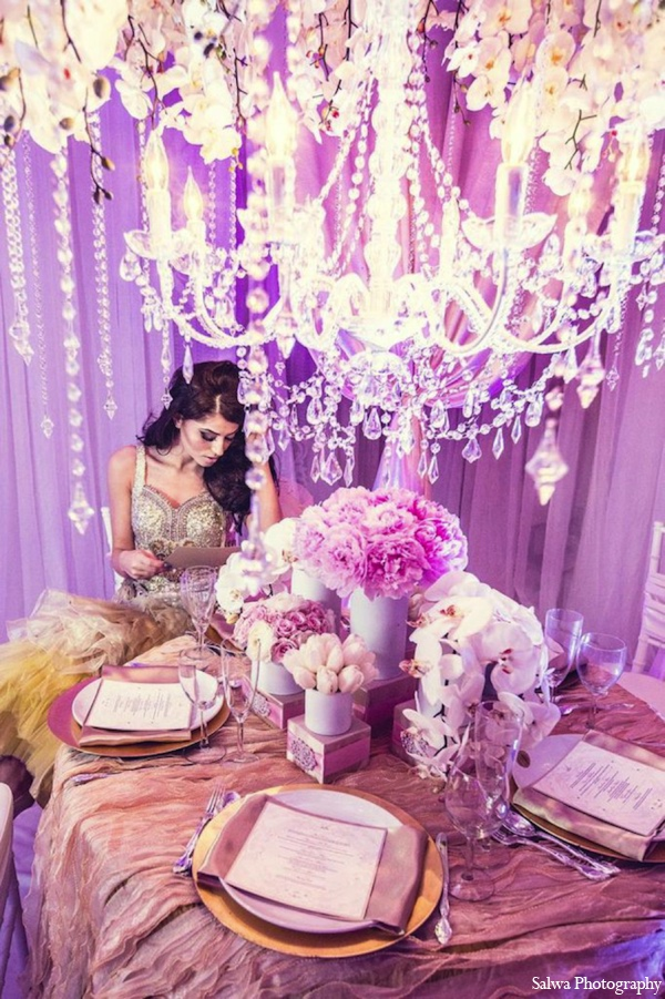 Indian wedding floral ideas in Design House Decor Indian Bridal Inspiration Shoot by Salwa Photography