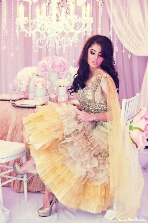 Indian wedding lehenga in Design House Decor Indian Bridal Inspiration Shoot by Salwa Photography