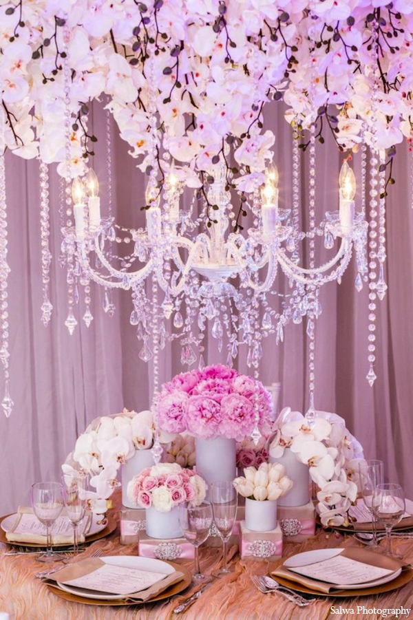 Indian wedding lighting in Design House Decor Indian Bridal Inspiration Shoot by Salwa Photography
