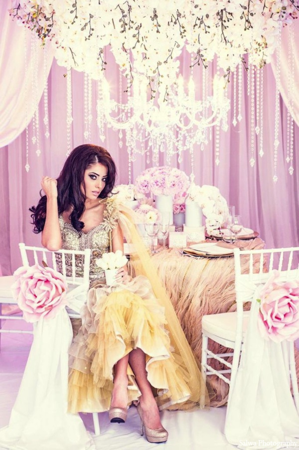 Indian wedding themes in Design House Decor Indian Bridal Inspiration Shoot by Salwa Photography