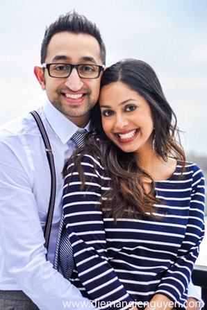 Indian wedding engagement photographer bride groom in Sunday Sweetheart Winners ~ Sonia & Rishab by Diem Angie Photography