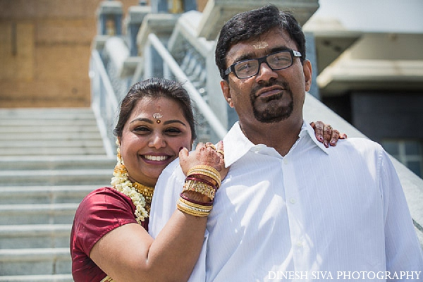 Indian wedding bride groom hindu portrait in Morganville, New Jersey Indian Wedding by Dinesh Siva Photography
