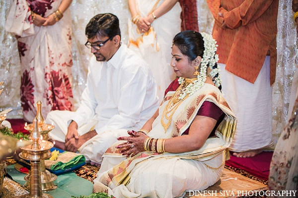 Indian wedding ceremony bride groom in Morganville, New Jersey Indian Wedding by Dinesh Siva Photography