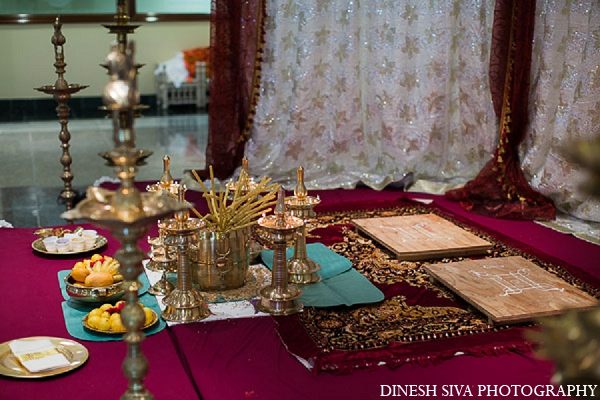 Indian wedding ceremony traditional decor in Morganville, New Jersey Indian Wedding by Dinesh Siva Photography