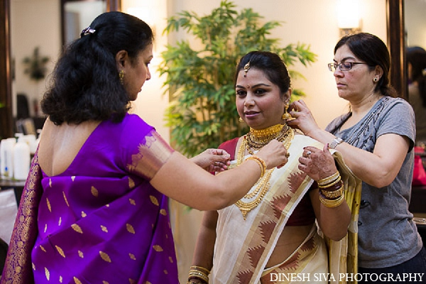 Indian wedding hindu bridal attire in Morganville, New Jersey Indian Wedding by Dinesh Siva Photography