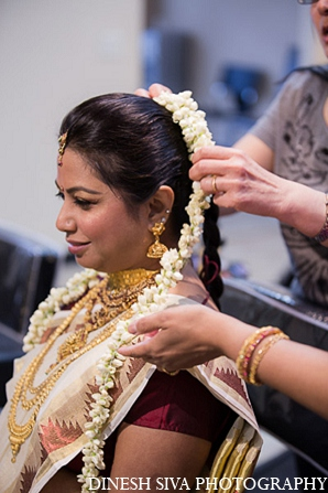 Indian wedding hindu bridal hair accessories in Morganville, New Jersey Indian Wedding by Dinesh Siva Photography