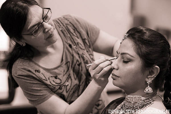 Indian wedding hindu bridal hair makeup in Morganville, New Jersey Indian Wedding by Dinesh Siva Photography