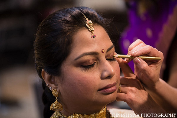 Indian wedding hindu bridal makeup in Morganville, New Jersey Indian Wedding by Dinesh Siva Photography