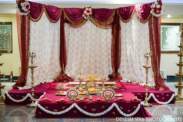 Indian wedding hindu ceremony mandap in Morganville, New Jersey Indian Wedding by Dinesh Siva Photography