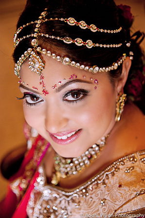 Indian wedding bridal makeup hair jewelry