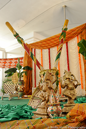 Indian wedding bridal tent decor
