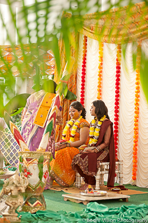 Indian wedding bride ceremony turmeric