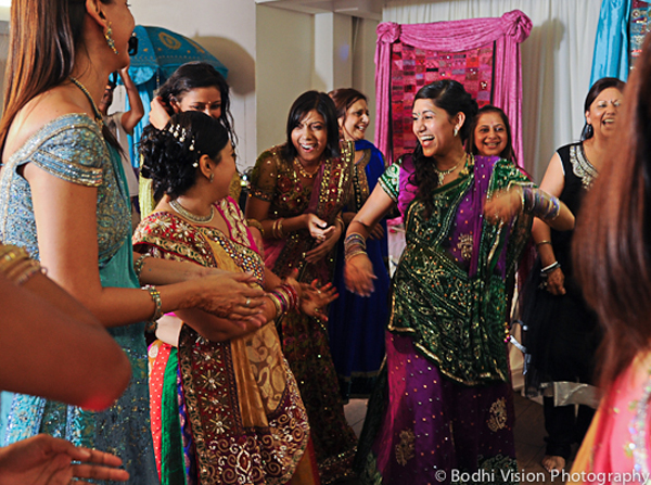 Indian wedding bride dancing tradition