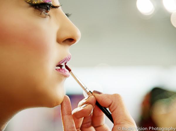 Indian wedding bride hair makeup