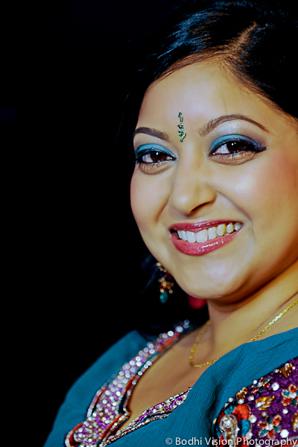 Indian wedding bride mehndi makeup