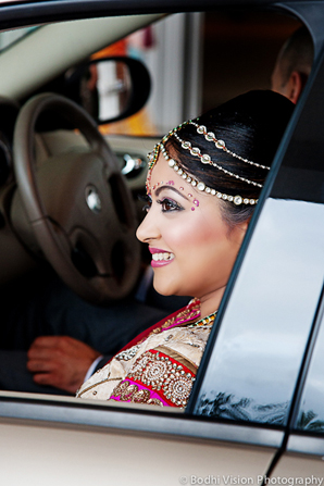 Indian wedding bride tradition arrival
