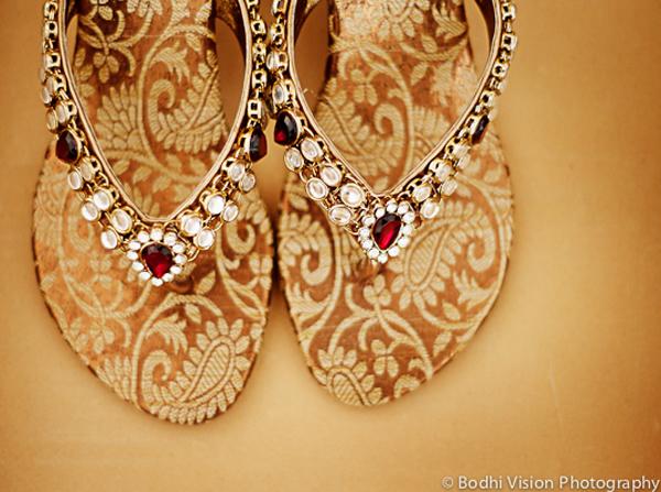 Indian wedding ceremony bridal shoes