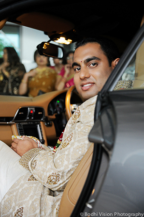 Indian wedding ceremony groom baraat