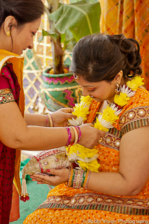 Indian wedding customs orange yellow