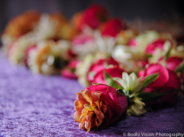 Indian wedding floral pink orange