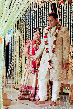Indian wedding mandap ceremony bride groom