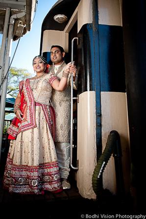 Indian wedding portrait bride groom