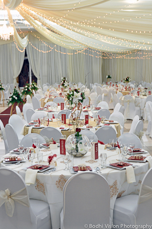 Indian wedding tent white decor design