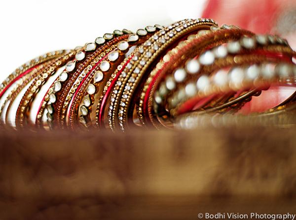 Indian wedding tradition bridal bangles