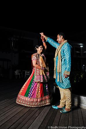 Indian wedding tradition bride groom dance