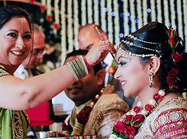 Indian wedding tradition bride makeup hair