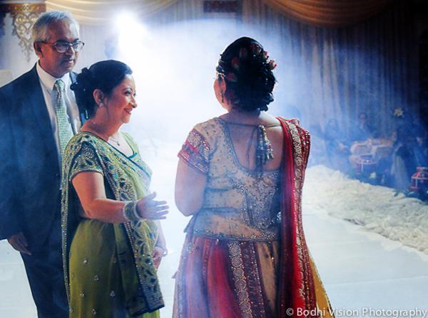 Indian wedding tradition bride red cream