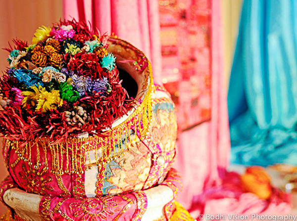 Indian wedding tradition decor bright