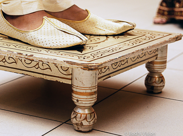 Indian wedding tradition groom shoes