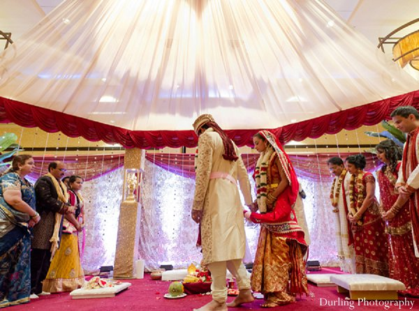 Indian wedding ceremony traditions groom bride