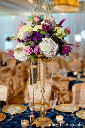 Indian wedding decor reception floral