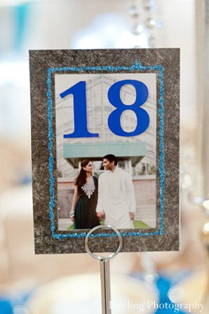 Indian wedding decor reception table number