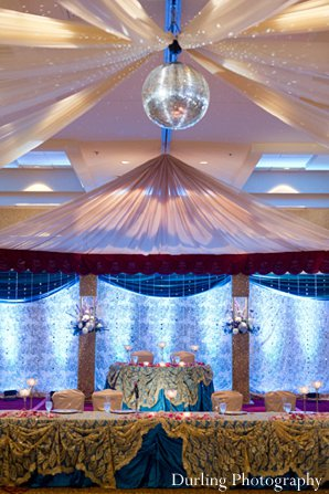 Indian wedding design decor floral reception