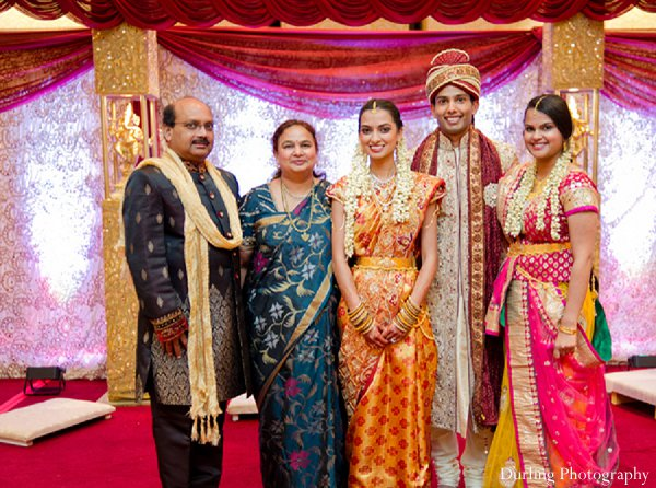 Indian wedding portraits family ceremony