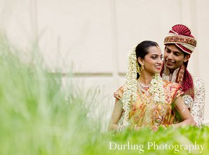 Indian wedding portriats bride groom outdoors