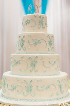Indian wedding reception cake