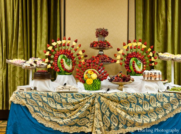 Indian wedding reception catering food